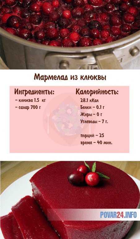 Вкусный домашний рецепт мармелада из клюквы