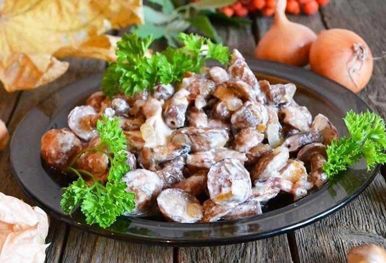 Жареные маслята - пошаговый рецепт с фото на Повар.ру