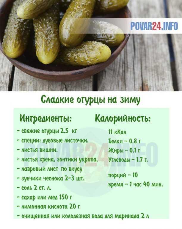 Рецепт сладких огурцов на зиму