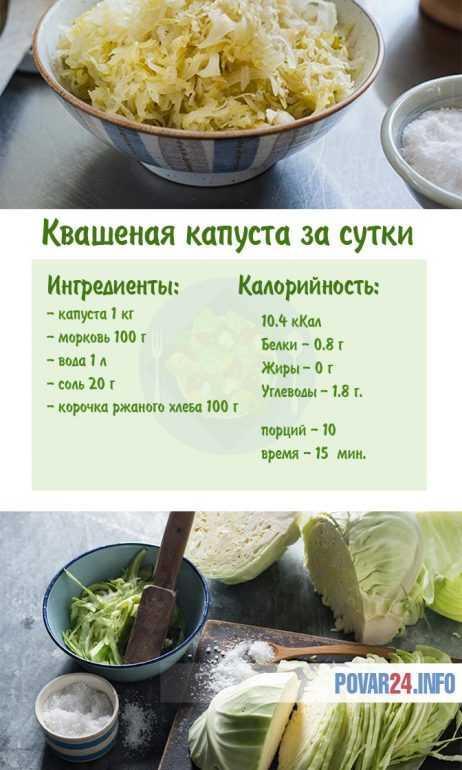 Как приготовить за сутки квашеную капусту
