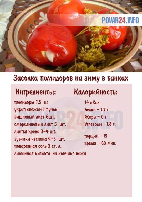 Засолка помидоров в банках на зиму