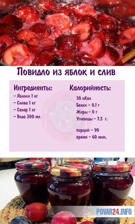 Простой рецепт повидла из яблок и слив в домашних условиях