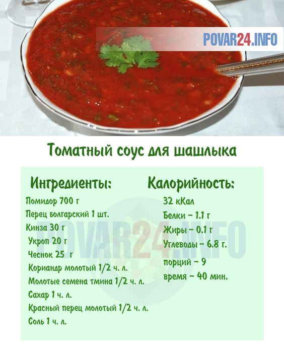 Рецепт томатного соуса для шашлыка