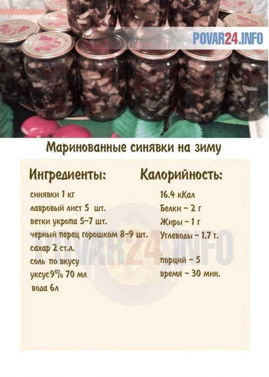 Как приготовить маринованные синявки на зиму - простые и вкусные рецепты